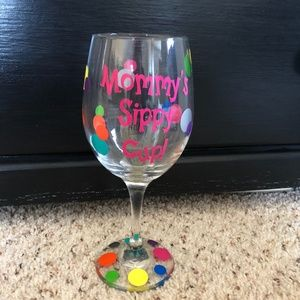 """Mommy's Sippy Cup"" Wine Glass"